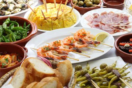 cazuela: spanish tapas bar food variety