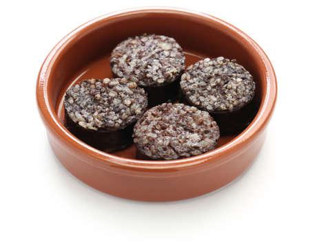 tapas espa�olas: morcilla, morcilla, comida tapas espa�olas