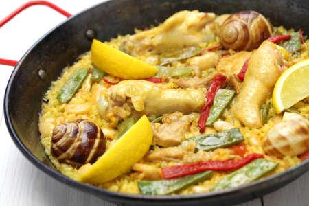 valencian paella, spanish cuisine photo