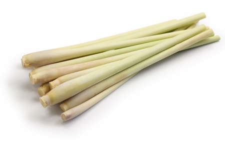 lemongrass: lemongrass isolated on white background Stock Photo
