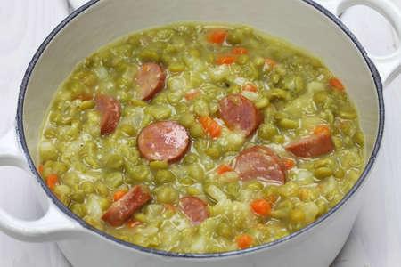 erwtensoep, pea soup, traditional dutch cuisine Stok Fotoğraf
