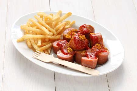Currywurst, Currywurst, Deutsch Lebensmittel Standard-Bild - 33934381