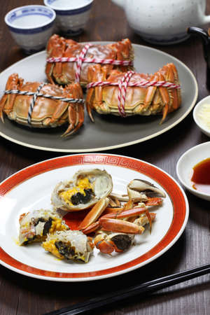 roe: shanghai hairy crabs, chinese cuisine, autumn winter delicacy