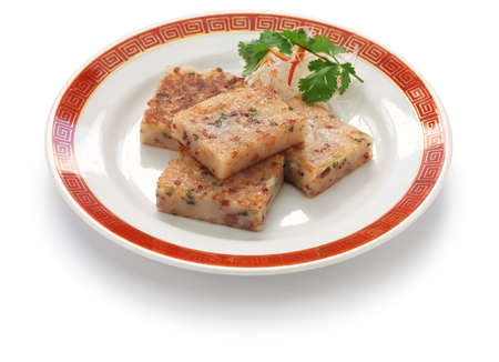 zelfgemaakte raap taart, chinese dimsum gerecht