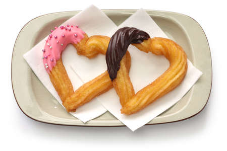 dragees: homemade heart shape churro, valentines day dessert