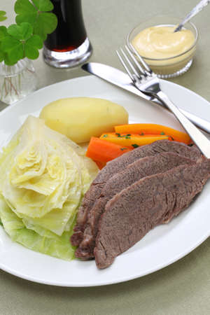 corned beef and cabbage, st patricks day dinner photo