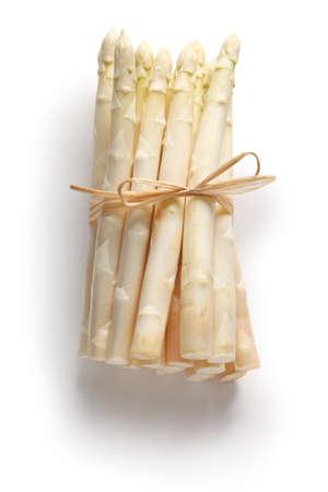 ホワイト アスパラガスのシュパーゲルの束 写真素材