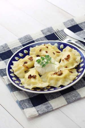 pierogi: homemade pierogi dumplings, polish food