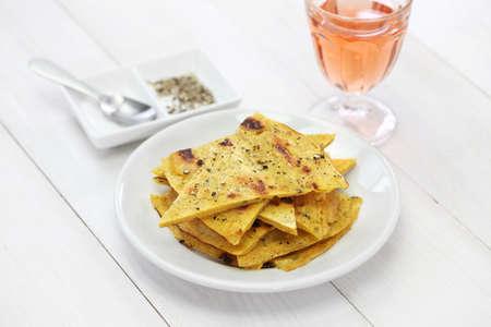 nice food: Socca, Фарината, нут блин с розовым вином