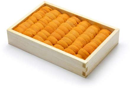 uni: sea urchin roe japanese sushi and sashimi ingredients