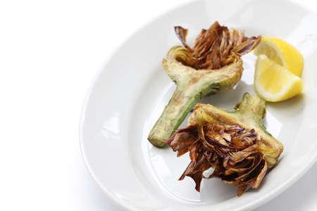 jewish: deep fried artichoke roman jewish cuisine carciofi alla giudia Stock Photo