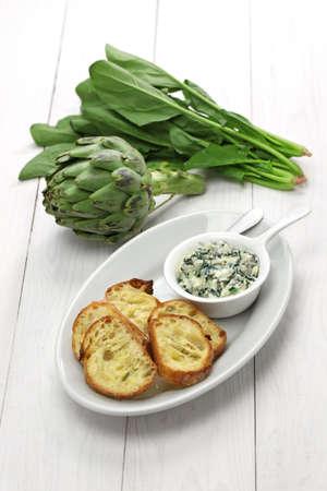 dips: artichoke spinach dip healthy vegetarian food