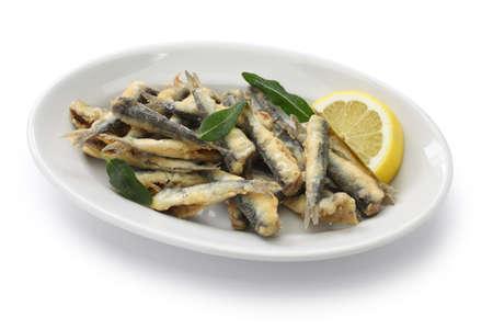 deep fried anchovies boquerones fritos acciughe fritte photo