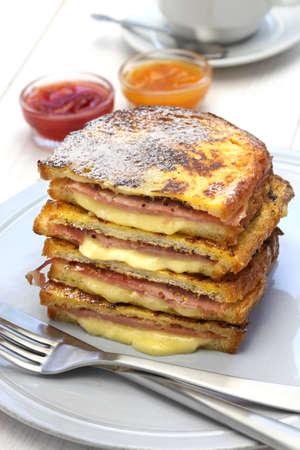 monte cristo: monte cristo sandwich with jam