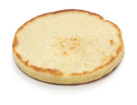comida colombiana: Arepas, pan de ma�z venezolano-colombiano Foto de archivo
