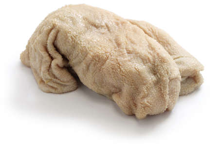 tripe: sheep tripe, haggis ingredient isolated on white background Stock Photo