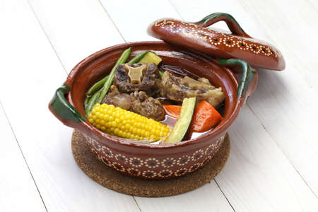 olla: Mole de olla, mexican spicy beef and vegetable stew