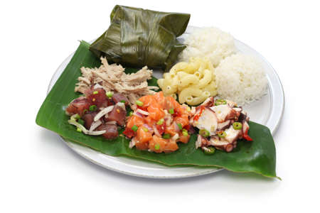 ahi: hawaiian traditional plate lunch