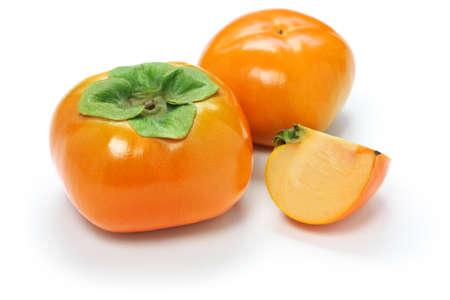 Jiro kaki, japanese persimmon isolated on white background
