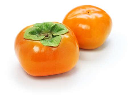 Jiro Kaki, Japanse Persimmon op witte achtergrond