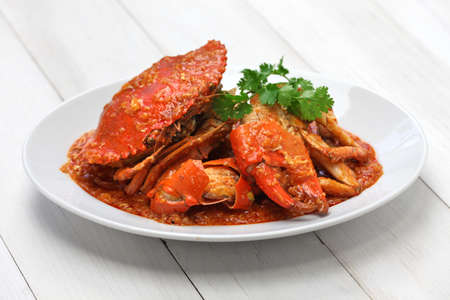 spicy: chilli mud crab, singapore cuisine