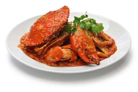 cangrejo: singapur chili de cangrejo aislada sobre fondo blanco