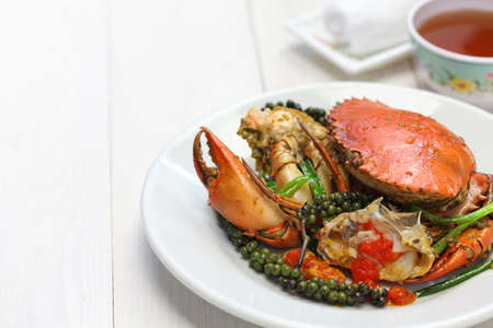 cambodian: stir-fried crab with green kampot pepper, cambodian cuisine