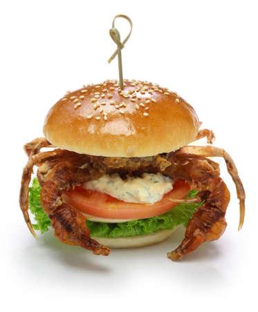 soft shell crab sandwich, sandwich spider Banco de Imagens