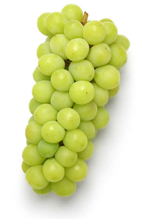 muscat: Shine muscat, japanese new variety grape isolated on white background Stock Photo