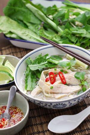 santa cena: Ga PHO, arroz con pollo vietnamita sopa de fideos