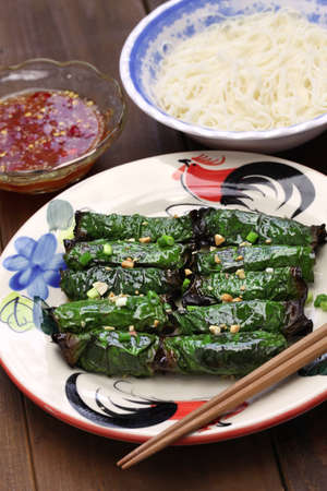 betel leaf: grilled minced beef wrapped in betel leaf, vietnamese cuisine Stock Photo