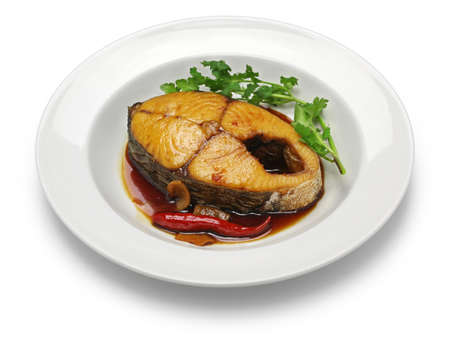 seer: thu CA kho, king mackerel simmered in caramelized sauce, vietnamese cuisine