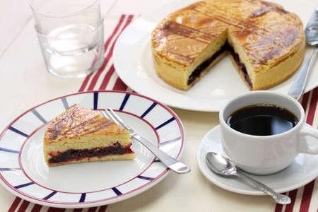 gateau: homemade gateau basque, tea time