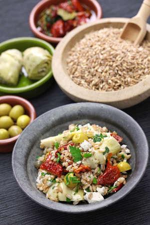 spelt: spelt salad, insalata di farro, italian cuisine