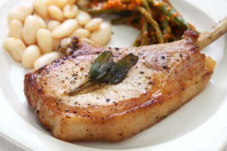cooked french cut pork chops