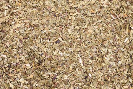 yerba mate: compañero de hojas de té tostado, dispararon de cerca