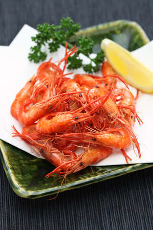 macrobrachium: deep fried freshwater shrimp, kawaebi no karaage, japanese food
