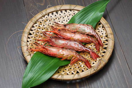 japones bambu: morotoge camarones, EBI Shima, marisco japonés
