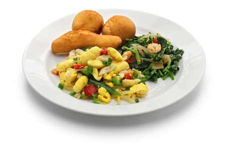 jamaican: Jamaican breakfast of ackee and saltfish, callaloo, jamaican festivals