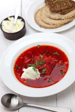 remolacha: Sopa de remolacha, sopa de remolacha, cocina ucraniana ruso Foto de archivo