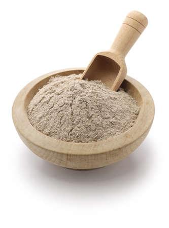 flour: harina de teff, comida etíope Foto de archivo