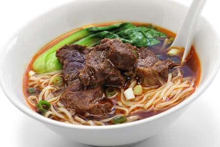 Taiwanese beef noodle soep Stockfoto