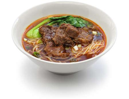 Tajwański wołowina zupa z makaronem Zdjęcie Seryjne