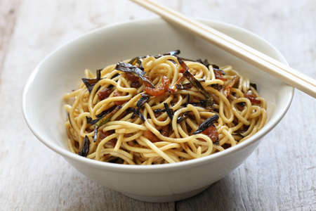 mian: scallion oil noodles and Shanghai food Stock Photo
