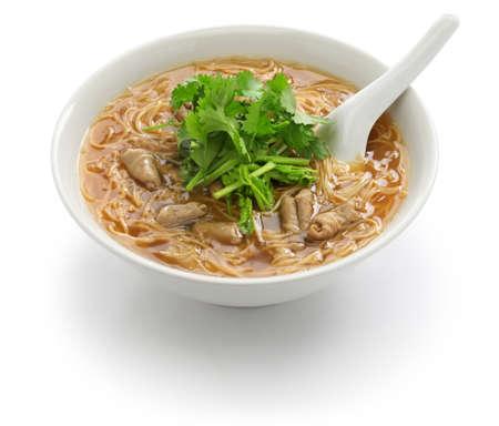 pork large intestine vermicelli soup, Taiwanese noodle cuisine 스톡 콘텐츠