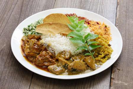 sri lankan: sri lankan rice and curry dish