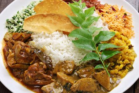 curry dish: sri lankan rice and curry dish
