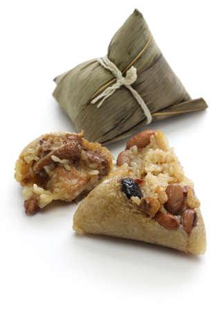 zongzi, die chinesische Reis Knödel, das Drachenbootfest Essen