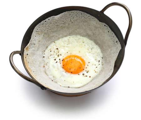スリランカ卵ホッパー、bittara aappa