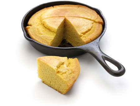 homemade cornbread in skillet, the cuisine of the Southern United States